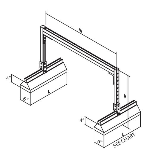 C Port Roof Pipe Supports C Port Roof Pipe Supports C Port