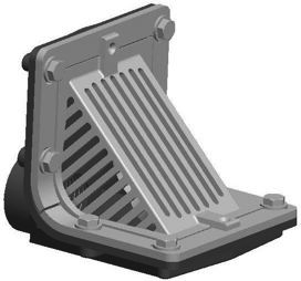 R1300t Series Scupper Drains With Angle Grate And 90