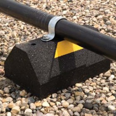 C Port Roof Pipe Supports